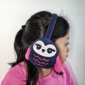 GYMBOREE Owl Earmuff Blue Pink One Size